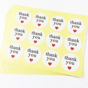 240 thank you stickers to decorate packages NEW